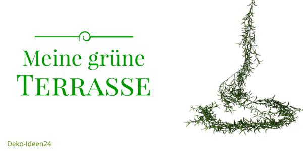 Deko-Ideen24 Blog: Meine grüne Terrasse - Sukkulenten Girlande