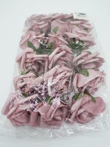 Foam-Rose mauve Ø8cm 18Stk