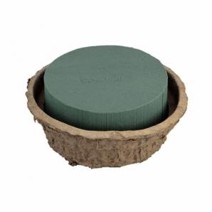 Oasis® Schale aus Biolit® mit Steckschaum ab Ø 16x10cm(2St)