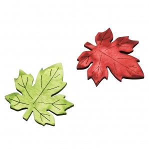 Ahornblätter grün-bordeaux 4cm 72Stk