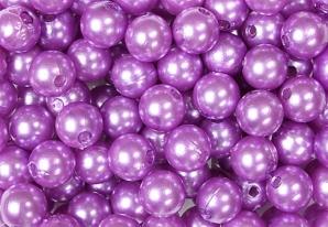 Deko Perlen violett in zwei Größen