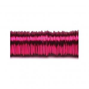 Dekodraht lackiert pink Ø 0,50mm50m