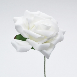 Foam-Rose weiß Ø10cm 8Stk