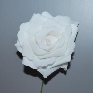 Foamrose weiß Ø10cm 16Stk