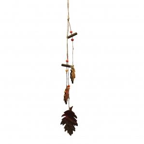 Dekoblätter aus Holz zum Hängen 3Stk
