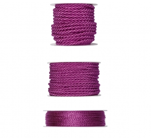 Kordelband - pink in drei Größen