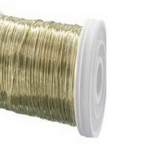 Dekodraht Spule gold (Golddraht) Ø30mm160m