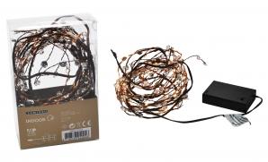 LED Mikrogirlande kupfer 100 LEDs indoor 1Stk