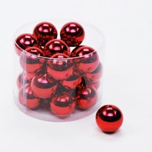 Perlen in rot metallic Ø30mm 24Stk