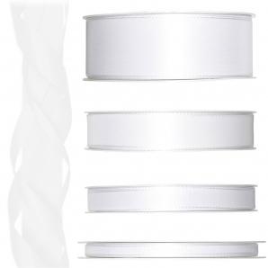 Satinband weiß 50m in verschiedenen Größen