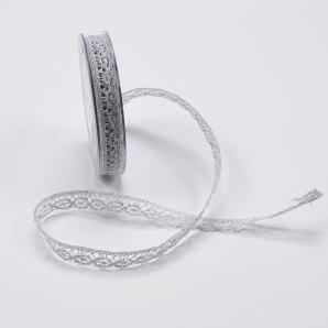 Spitzenband - silber 15mm10m