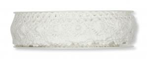Spitzenband - Häkelspitze weiß 28mm7m