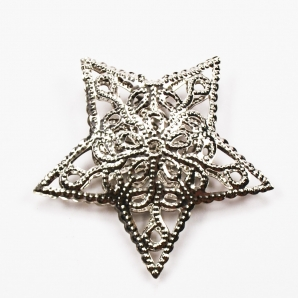Metallstern filigran silber 6cm 20Stk