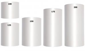Acetat Kranzband weiß in verschiedenen Breiten  25m auf der Rolle