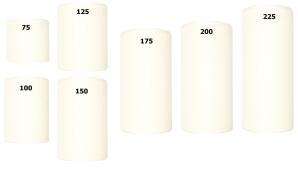 Kranzband weiß in verschiedenen Breiten 25m auf der Rolle