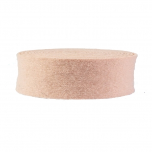 Wollband Lehner Wolle lachs 7,5cm 5m