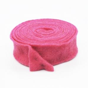Wollvlies Topfband Lehner Wolle pink 7,5cm5m