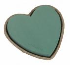 Oasis® Herz mit Steckschaum für Frischblumen und Biolit® Unterlage 17cm(4St)