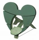 Oasis® Deko-Herz Bioline® mit Steckschaum für Frischblumen zum stellen für eine URNE 46x46x4cm(1St)