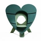 Oasis® Deko-Herz Bioline® mit Steckschaum für Frischblumen zum stellen für eine URNE 60x60x5,5cm(1St)