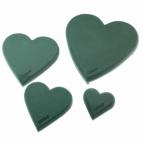 Oasis® Herz Ecobase® mit Steckschaum, Hartschaumunterlage und Aufstellhölzer 30-50cm(2St)
