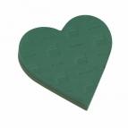 Oasis® Herz mit Hartschaumboden und Steckschaum 29x29x6cm(2St)