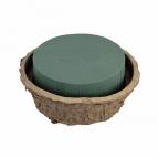 Oasis® Schale aus Biolit® mit Steckschaum Ø 18x10cm(2St)