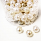 Perlen weiß Ø 020mm  ca.72Stk 300g