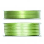 Doppel Satinband grün - hell-lindgrün 50m in zwei Größen