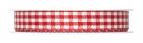 Karoband rot-weiß 15mm25m