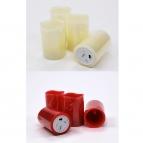 LED-Kerze aus Wachs Batteriebetrieb Timer in verschiedenen Farben und Größen
