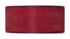 Dekoband Organza bordeaux-rot 40mm50m