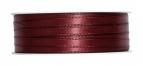 Doppel Satinband bordeauxrot 6mm x 50m