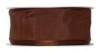 Satinband - Drahtkante braun 40mm x 25m