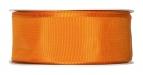 Satinband - Drahtkante orange 40mm x 25m