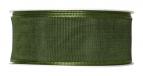 Satinband - Drahtkante grün 40mm x 25m