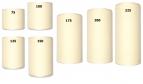 Kranzband creme in verschiedenen Breiten  25m auf der Rolle