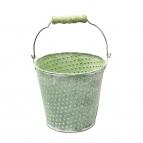 Zinktopf rund grün Ø12cm 1Stk