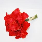 Künstliche Amarylis rot  (1 Bund)