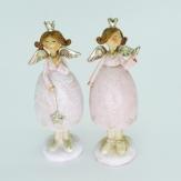 Engel Paar stehend rosa 11,5x5cm 2Stk