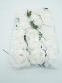 Foam-Rose weiß Ø8cm 18Stk