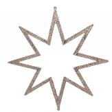 Glimmersterne zum Hängen gold platin 22cm 12Stk