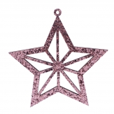 Glimmersterne zum Hängen pink 14cm 8Stk