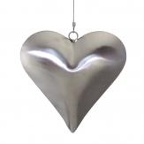 Herz aus Edelstahl zum Hängen 15x15cm