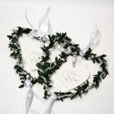 Hochzeitshänger weiß 15x70cm 2 St.