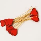 Blumenstecker Herz rot 24Stk