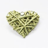 Korbherz aus Rebe grün 12x12cm 10Stk