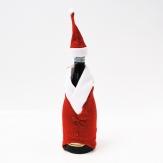 Nikolaus-Kostüm für Flaschen rot 11x41 cm
