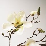 Magnolienzweig creme 107 cm Seidenblume Kunstblume