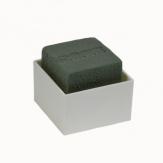 Oasis® Gesteckschale für die Tischdeko mit Steckschaum für Frischblumen DESIGN NEO 6x6x3,5cm(24St)